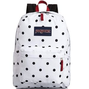 JanSport Unisex SuperBreak Black & White Polka Dot